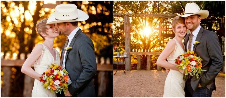 Texan wedding couple