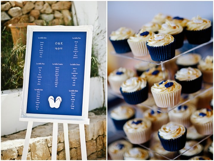 wedding cup cakes at an Ibiza wedding