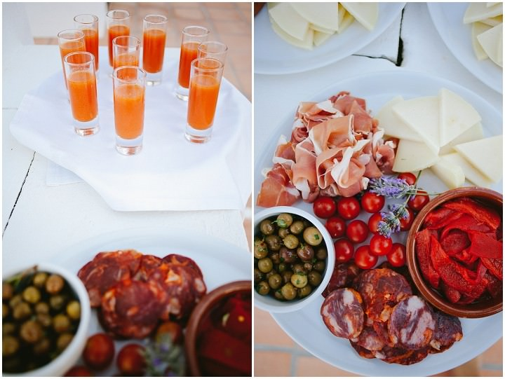 Ibiza wedding food