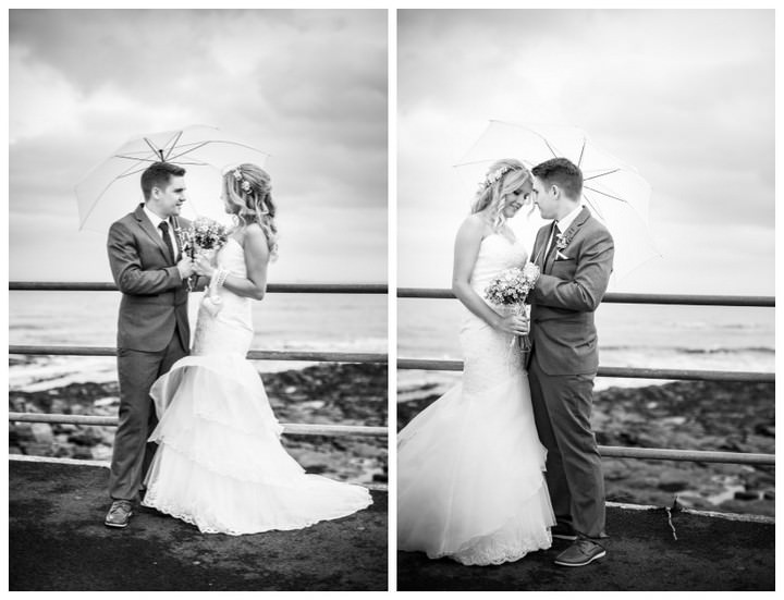 wedding couple at  Whitley Bay