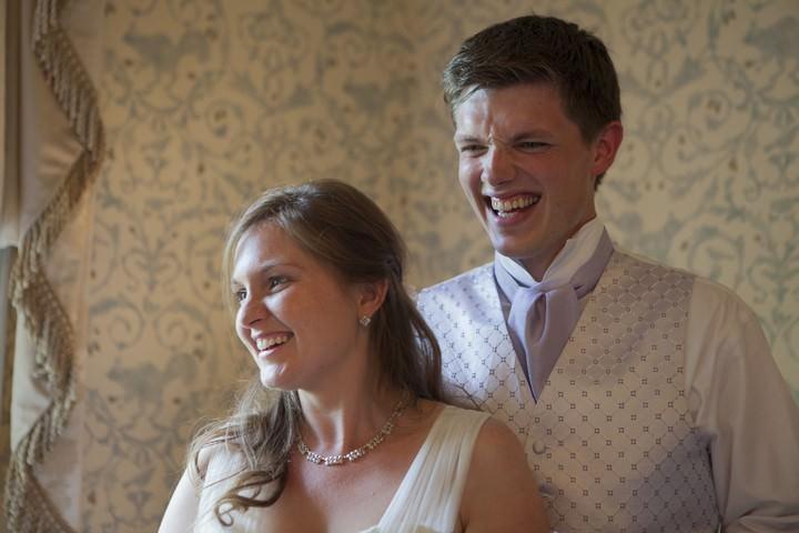 Surrey bride and groom