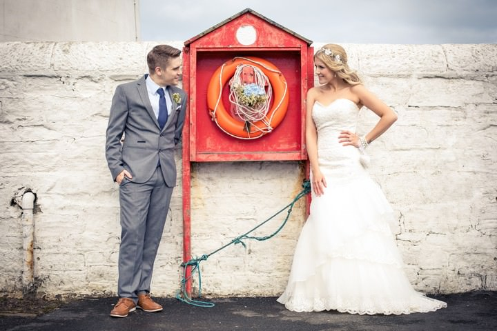 Lighthouse Wedding with a Rustic Beach Theme