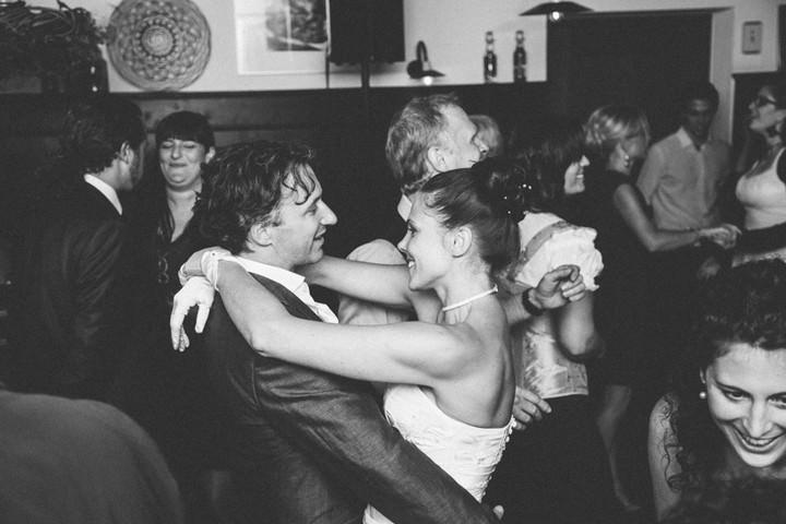 dancing at a evening wedding reception