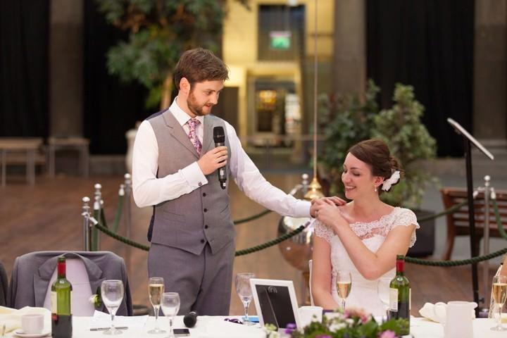 wedding speeches at a derbyshire wedding