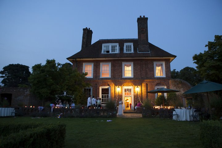 Pendell House in Redhil, Surry in the evening