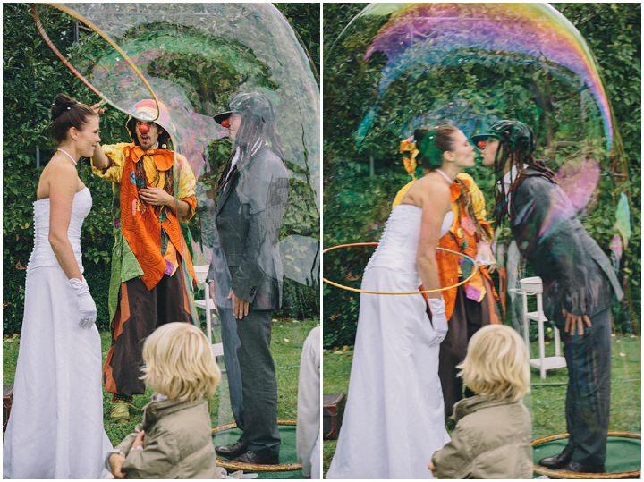 Natural Wedding with a Ring-Bearing Dog