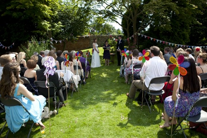 Relaxed and Sunny Humanist Wedding
