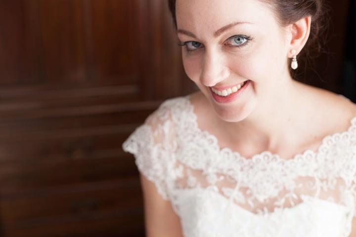 bride on her wedding day