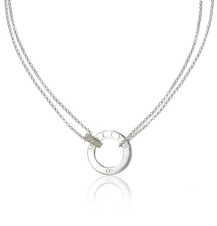 Diamond Ribbon Necklace