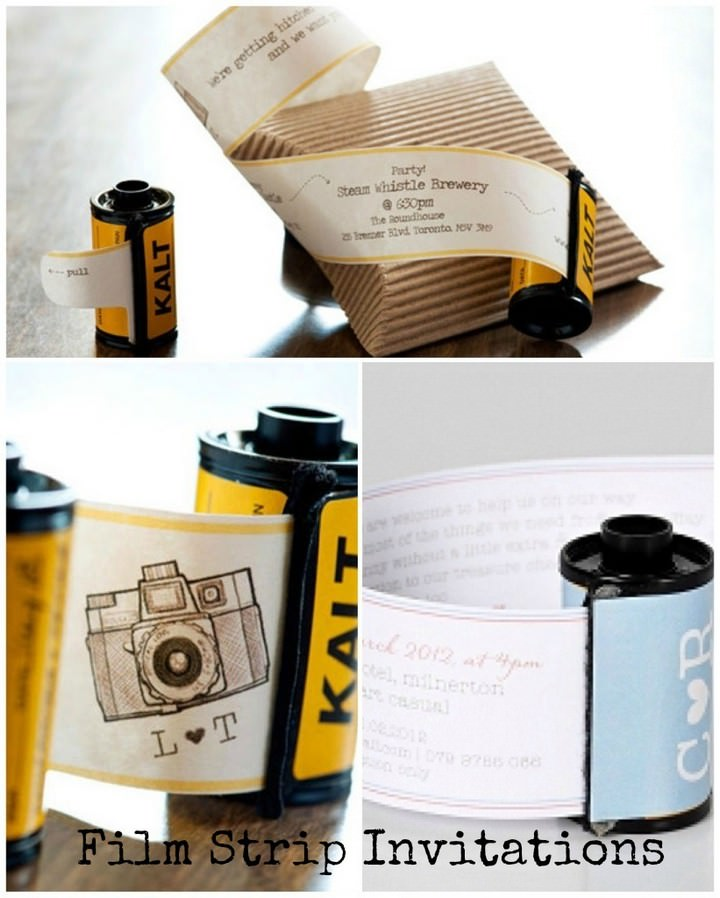 Film Strip Invitations