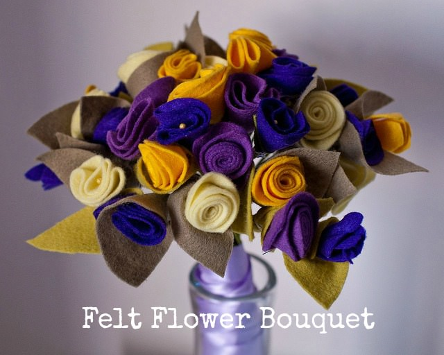 DIY Tutorial: Felt Flower Bouquet - Boho Weddings For the Boho Luxe ...