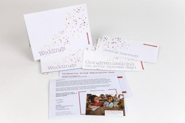 ActionAid UK Community Fundraising Wedding pack.