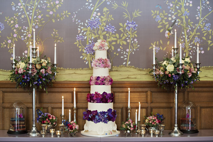 Purple Ombre & Retro Rainbow a Look a 2013 & 2014 Wedding Trends