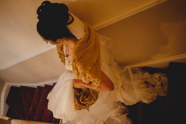 York bride getting ready on her wedding day