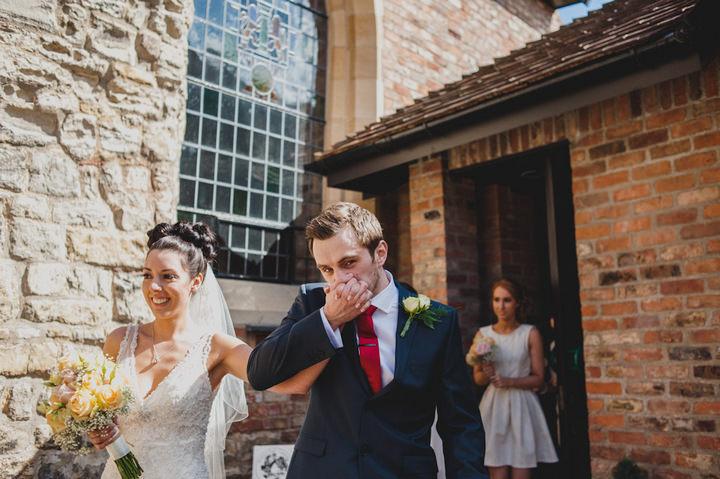 wedding ceremony at Bedern Hall in York