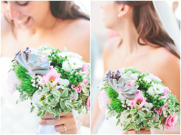 Italian bride with bouquet