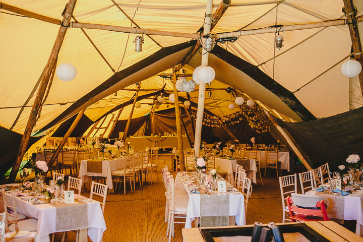 30 Tipi Wedding, With Lots of Handmade and Vintage Elements' By Mark Tierney