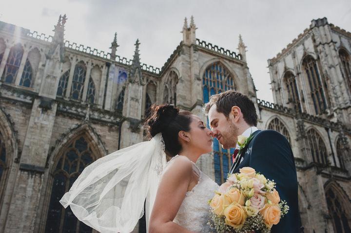 York bride and groom