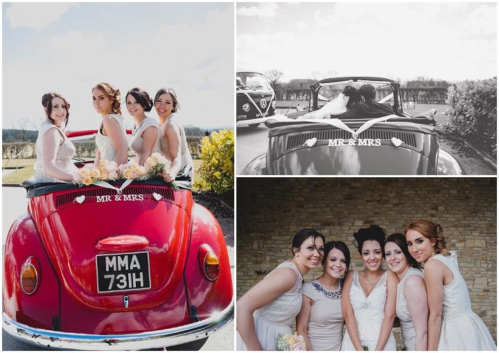 York wedding with red beetle