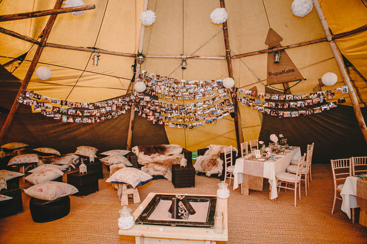 Tipi wedding in derbyshire with vintage elements boho weddings 34 tipi wedding with lots of handmade and vintage elements by mark tierney junglespirit Images
