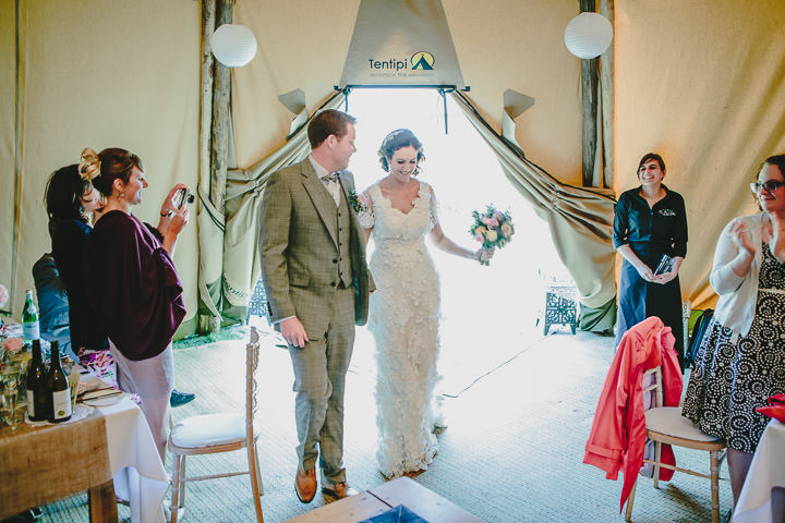 42 Tipi Wedding, With Lots of Handmade and Vintage Elements' By Mark Tierney