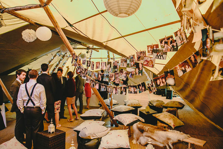 43 Tipi Wedding, With Lots of Handmade and Vintage Elements' By Mark Tierney