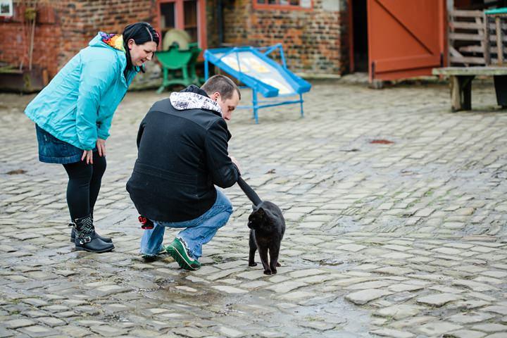 Animal Loving Engagement Shoot