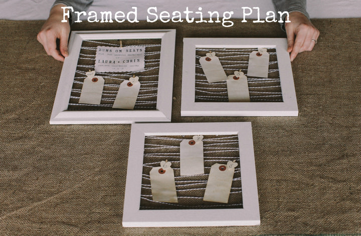Diy Tutorial Picture Frame Seating Plan