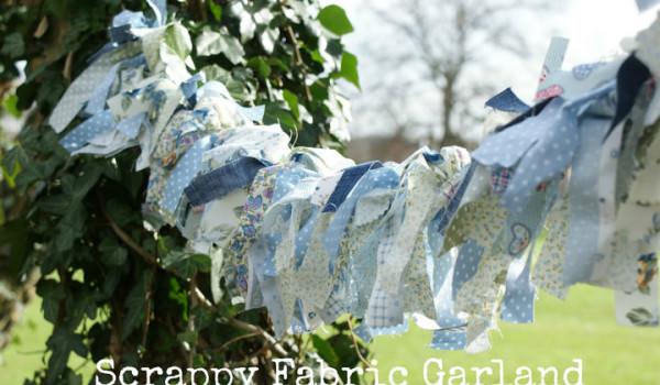 DIY Tutorial - Pretty Scrappy Fabric Garland
