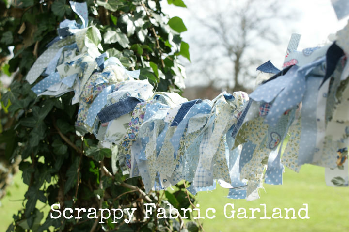 DIY Tutorial - Pretty Scrappy Fabric Garland