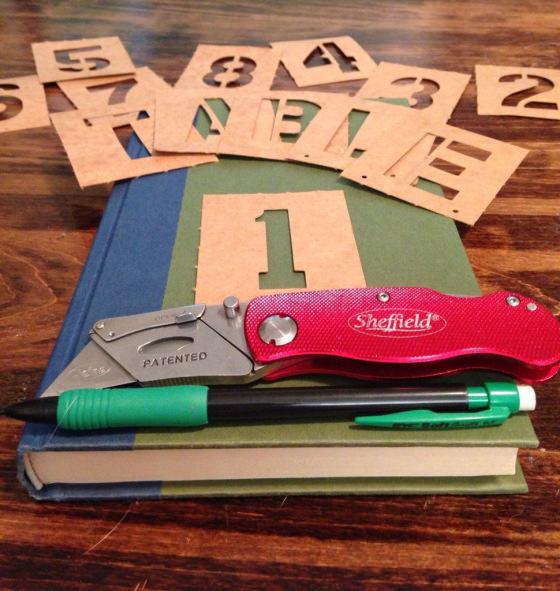 DIY Book Table Numbers