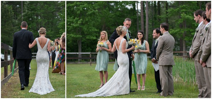 18 Burlap, Sunflowers and Hay Bale Wedding