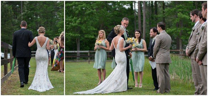 18 Burlap, Sunflowers and Hay Bale Wedding