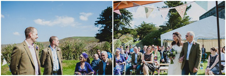 Cornish Cliff Top Wedding. By Toast of Leeds