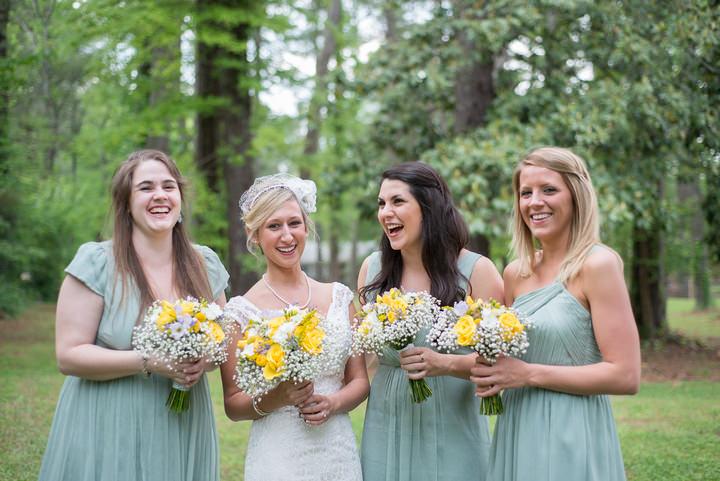 2 Burlap, Sunflowers and Hay Bale Wedding