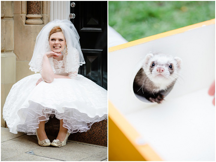 2 Rainbow Wedding With Ferret Racing and a Candy Anthony Dress