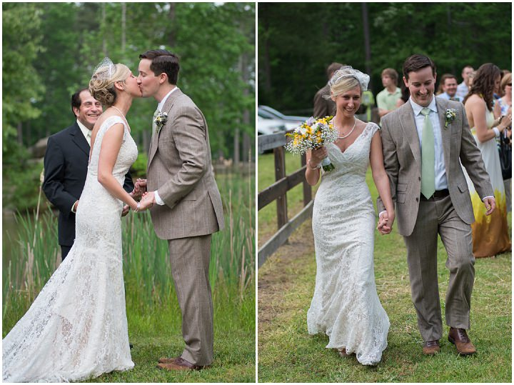 21 Burlap, Sunflowers and Hay Bale Wedding