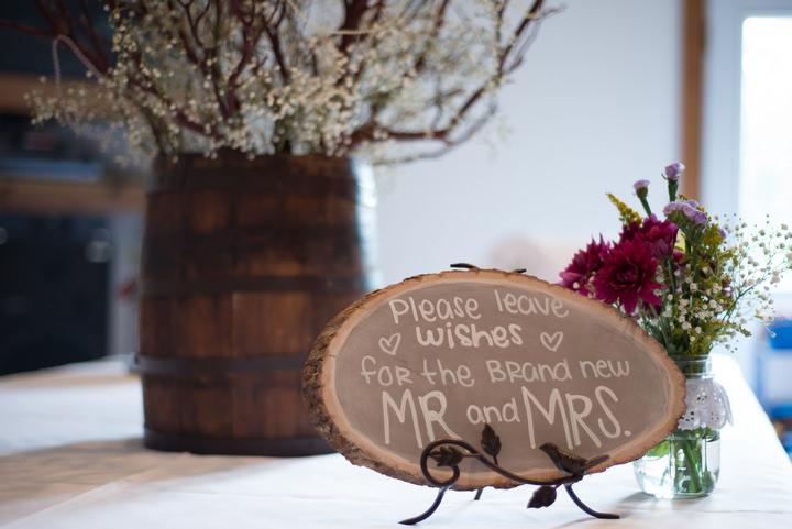 24 Burlap, Sunflowers and Hay Bale Wedding