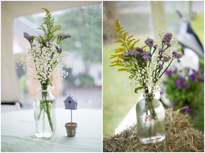 25 Burlap, Sunflowers and Hay Bale Wedding