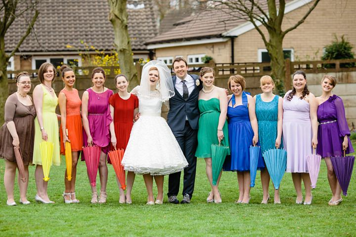 36 Rainbow Wedding With Ferret Racing and a Candy Anthony Dress