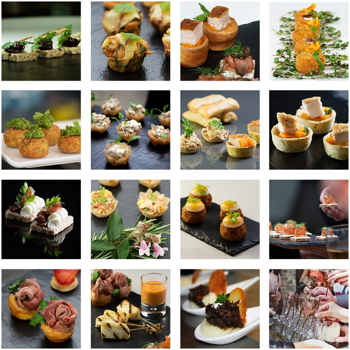 Ask the experts non traditional menu options from kalm for Wedding canape alternatives