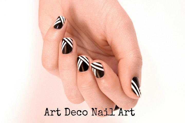 how to do art deco nail art a boho life. Black Bedroom Furniture Sets. Home Design Ideas