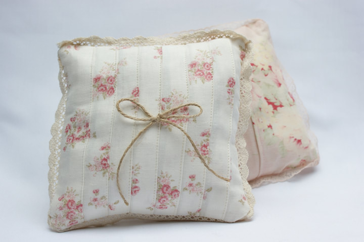 DIY Tutorial A Wedding Ring Cushion Boho Weddings For the Boho