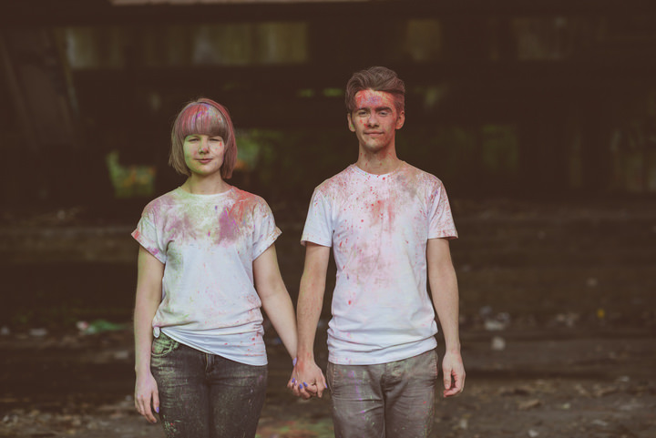 14 Paint Throwing Engagement Shoot in Scotland By Neil Thomas Douglas