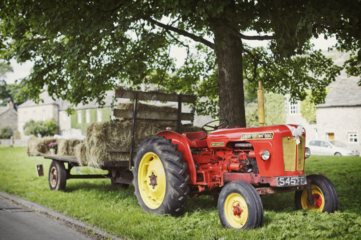 16 Hay Bales and Tractor Loving Yorkshire Wedding My Mark Tattersall