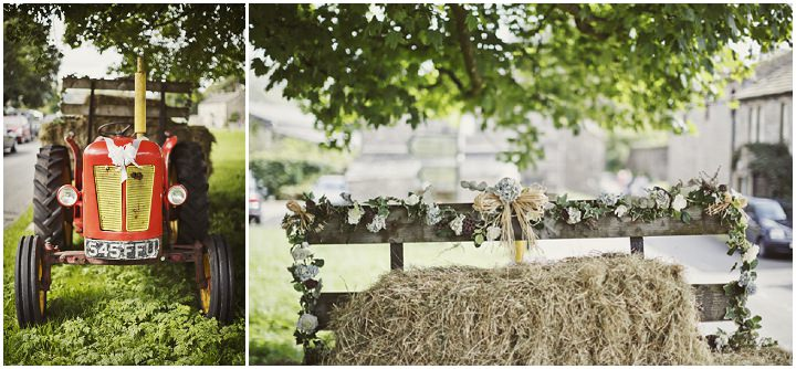 17 Hay Bales and Tractor Loving Yorkshire Wedding My Mark Tattersall