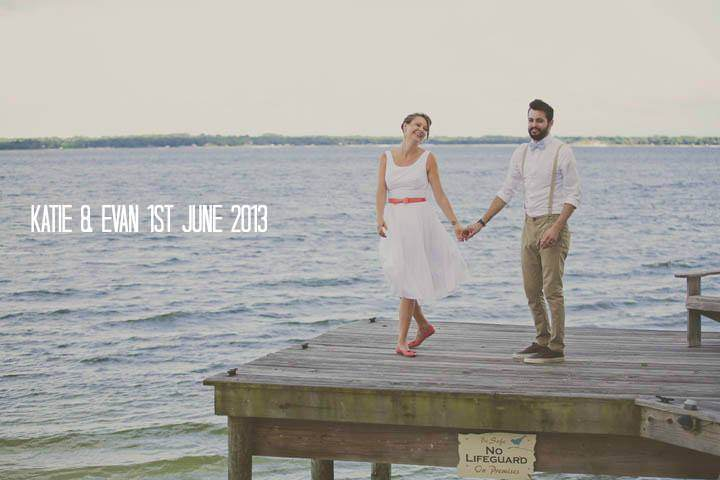 Katie and Evan's 'Dinosaurs and Unicorns' Florida Lake Wedding. By Stacy Paul Photography