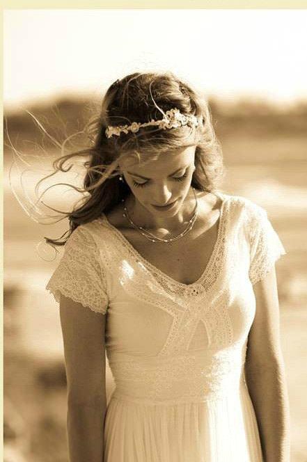 Woodland wedding style headband