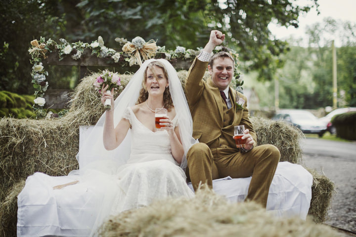 30 Hay Bales and Tractor Loving Yorkshire Wedding My Mark Tattersall