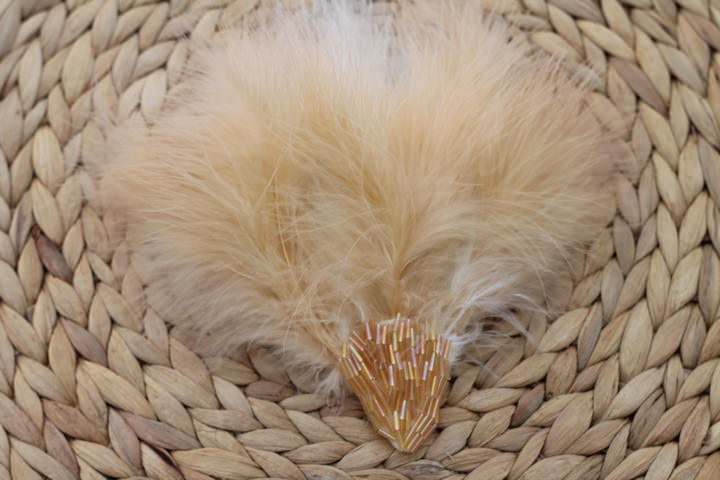 Feather and bead headdress (10)